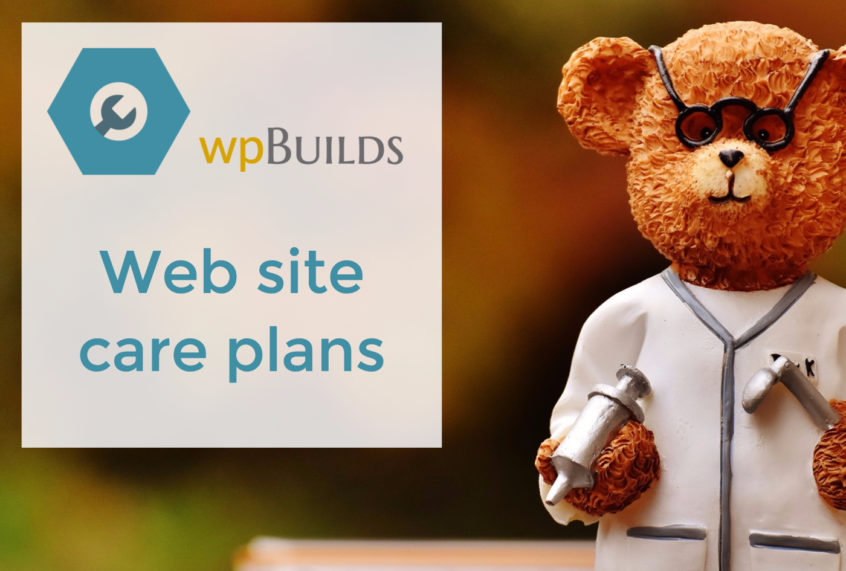 Web site care plans